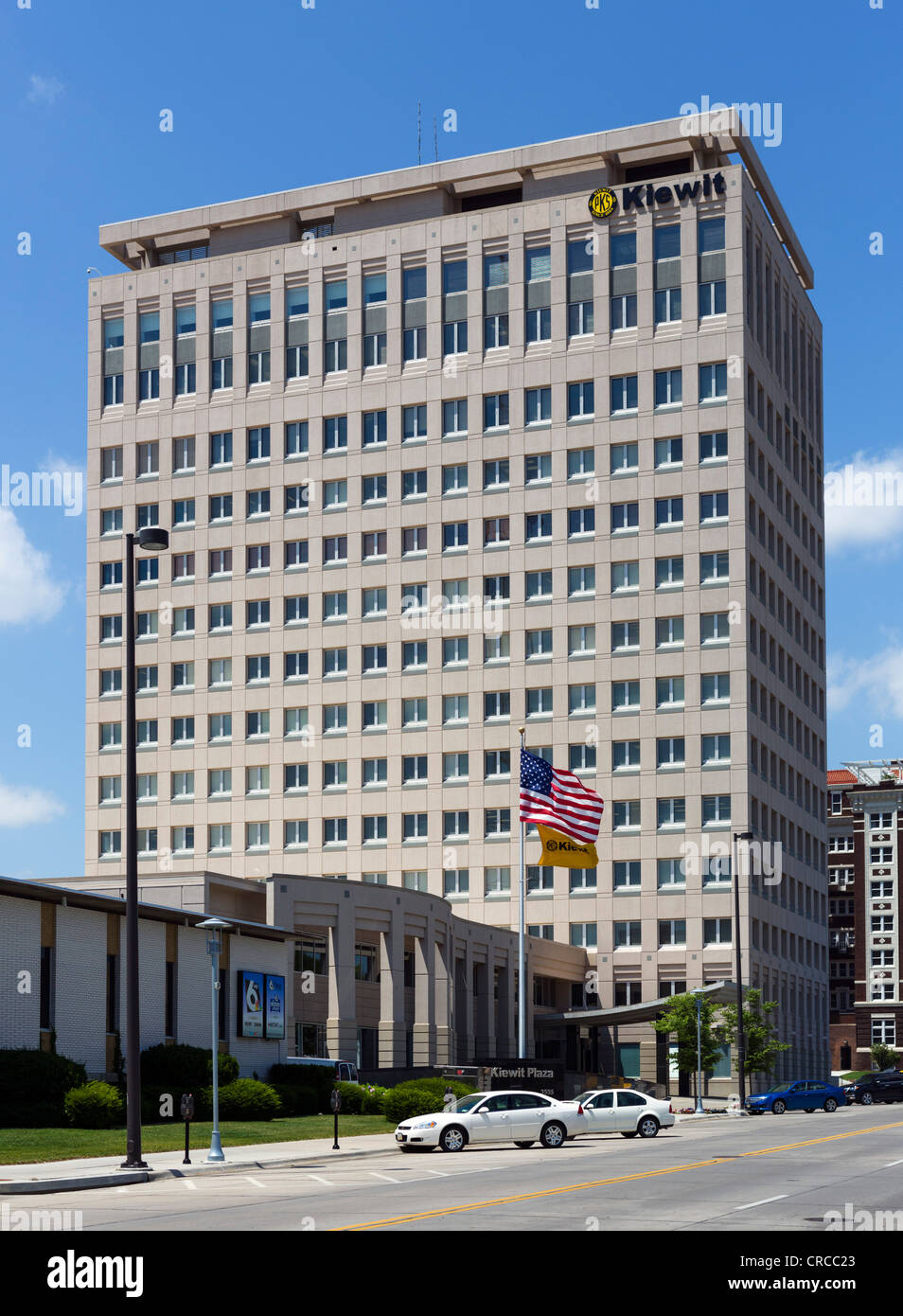 Building housing headquarters of Berkshire Hathaway, headed by multi-billionaire Warren Buffet, Farnam St, Omaha, - Stock Image