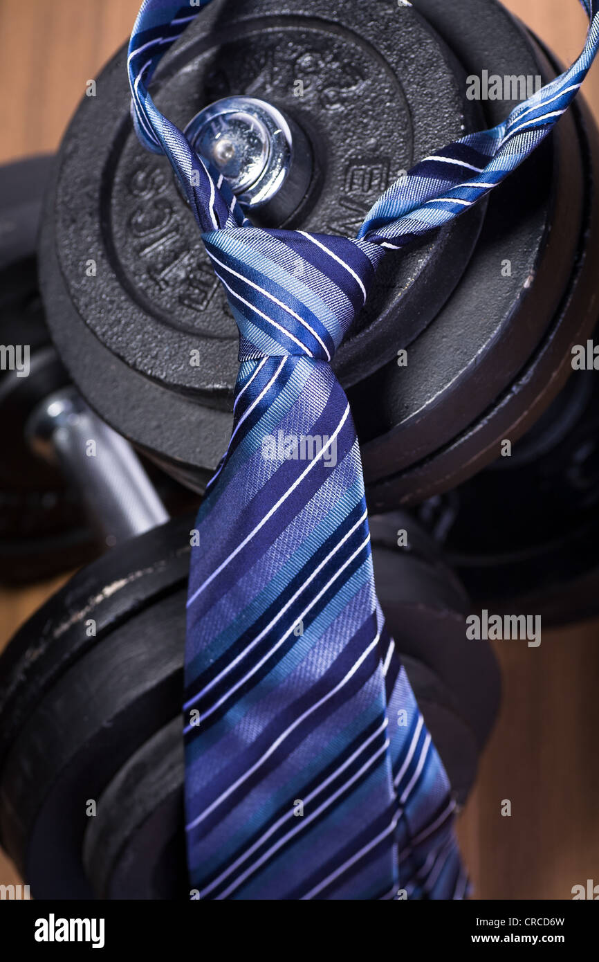 Symbolic picture for fitness in business - Stock Image