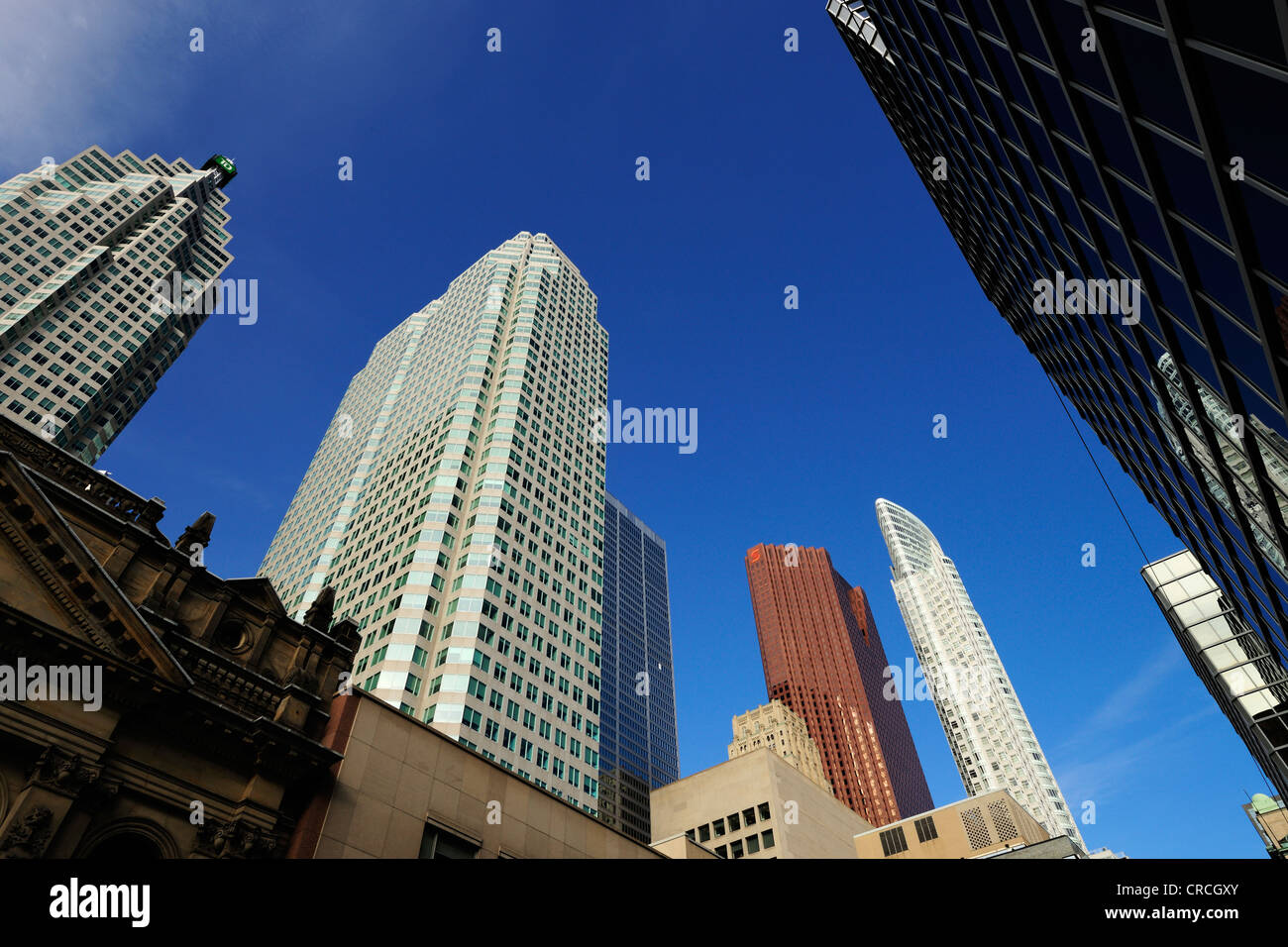 Skyscrapers on Yonge Street in Toronto, Ontario, Canada, North America - Stock Image
