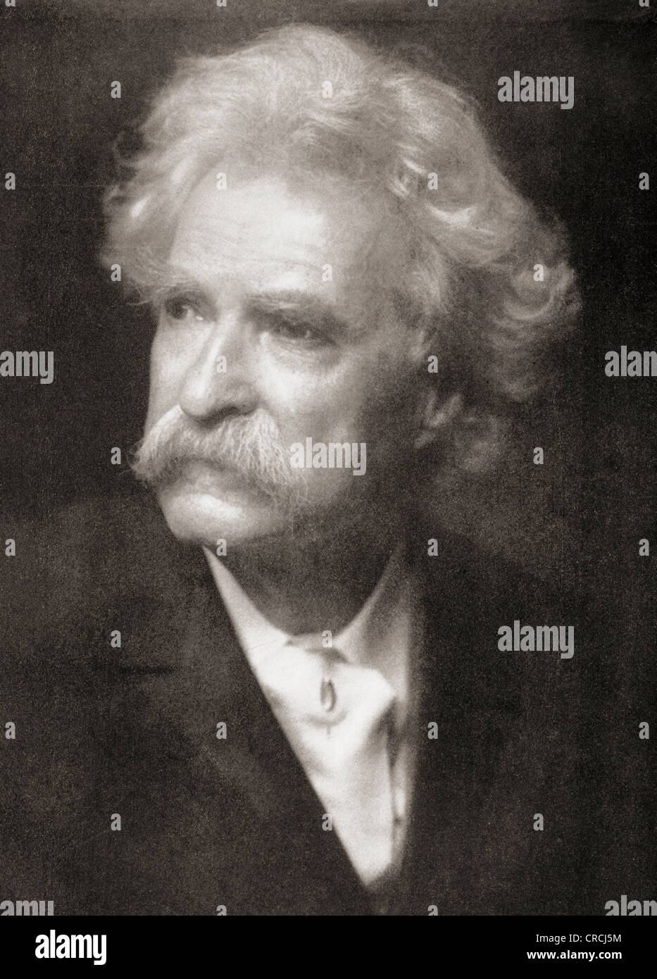 Samuel Langhorne Clemens, 1835 –1910, better known by his pen name Mark Twain. American author and humorist. - Stock Image