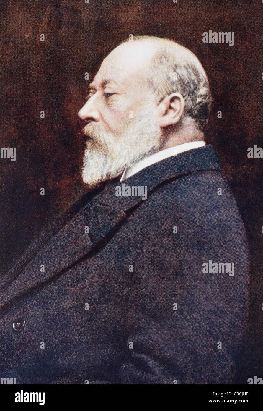 Edward VII, Albert Edward, 1841 –1910. King of the United Kingdom. From The Year 1910 Illustrated. - Stock Image