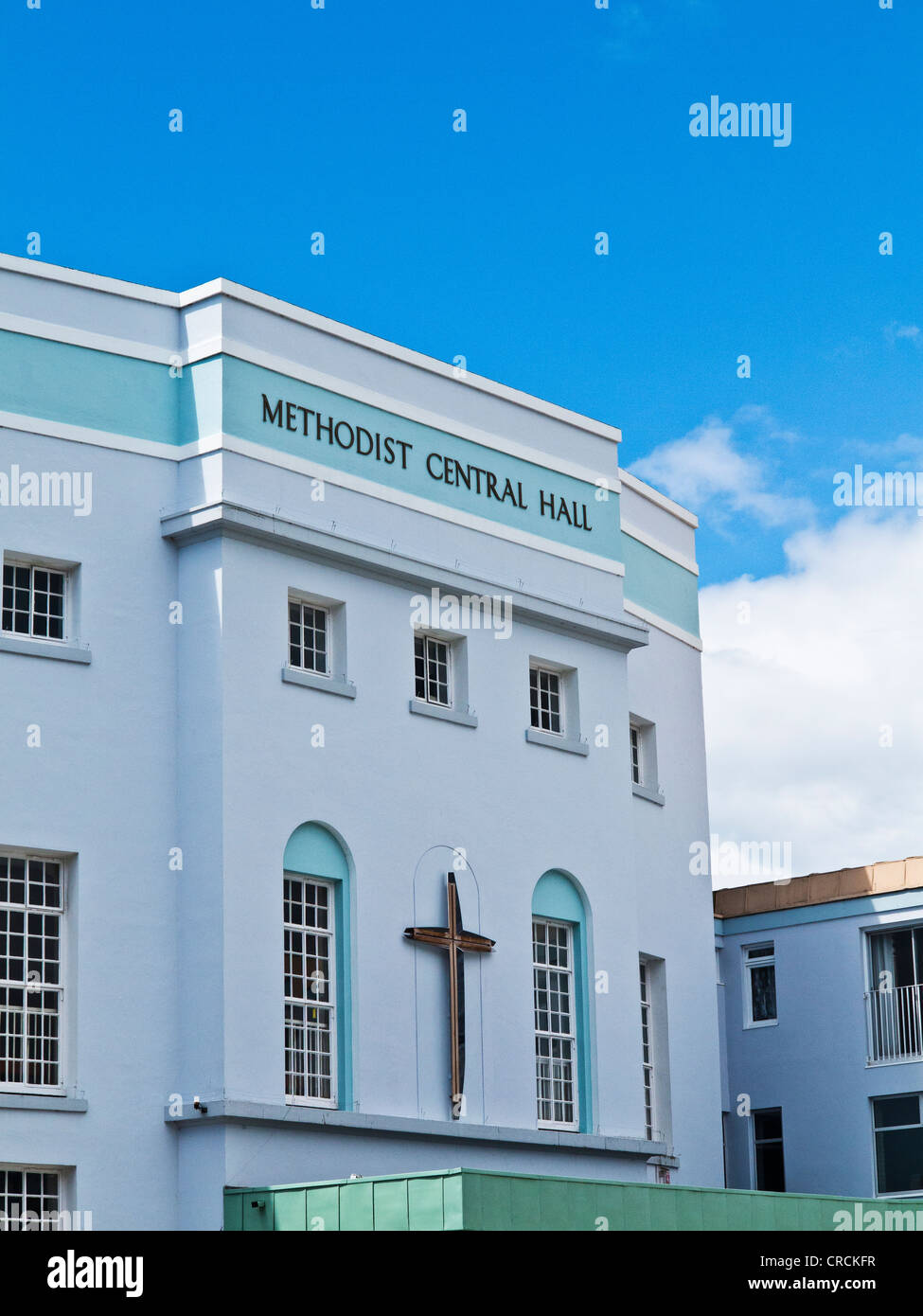 Methodist Central Hall in city of Plymouth,Devon,UK Stock Photo ...