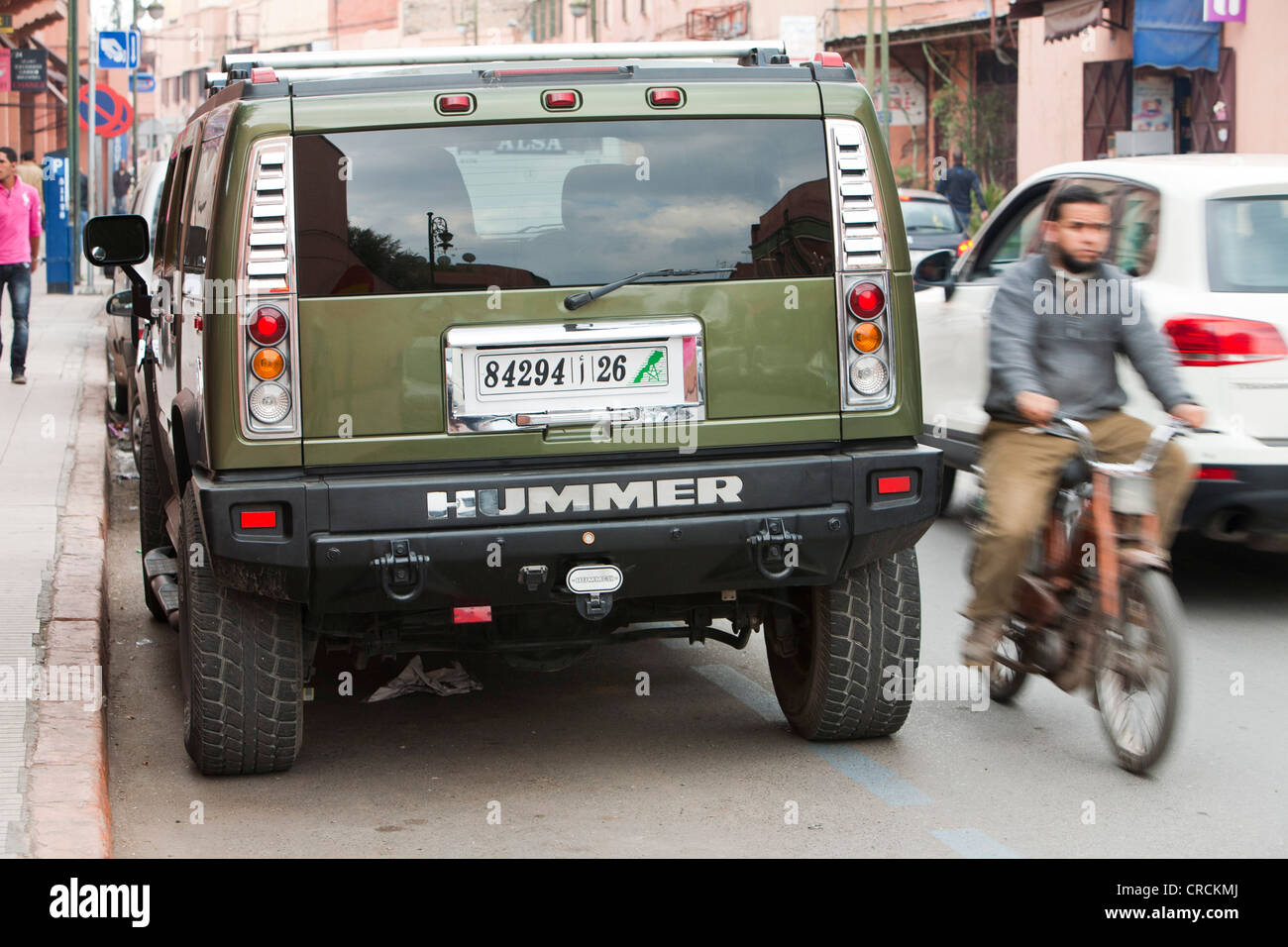A Hummer in Marrakech, Morocco, North Africa. - Stock Image
