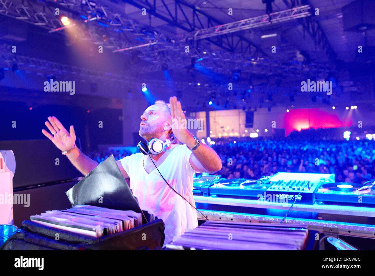 DJ Sven Vaeth, techno festival Mayday 2011 in the Westfalenhalle Dortmund venue, Dortmund, North Rhine-Westphalia - Stock Image