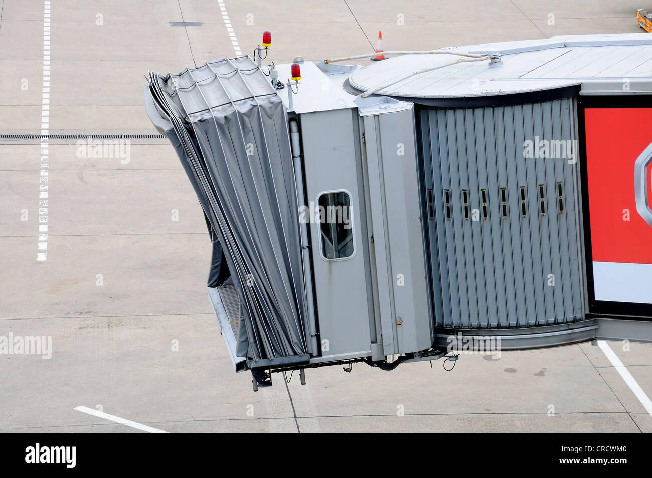 Air bridge, Birmingham Airport, West Midlands, England, UK, Western Europe.