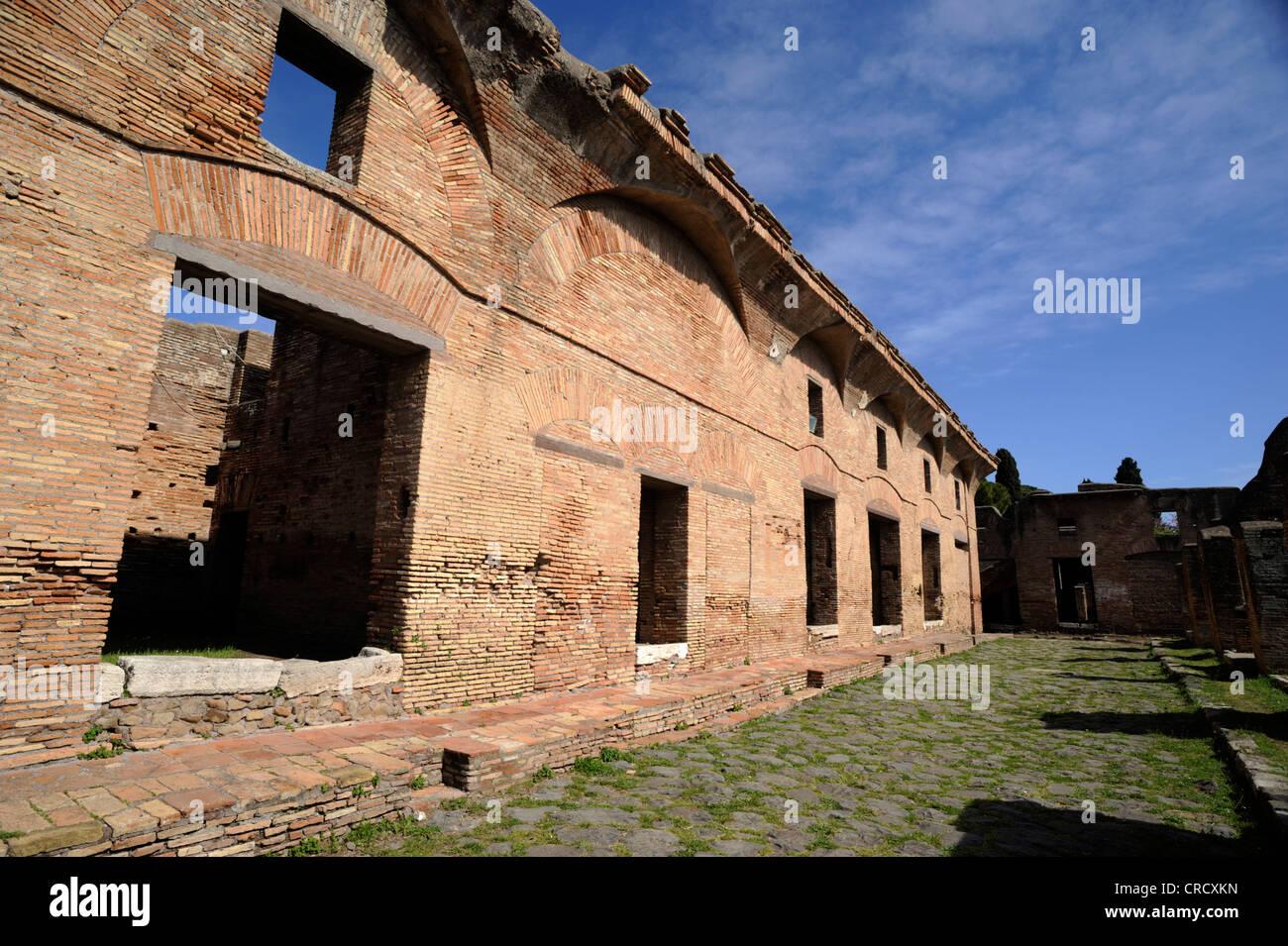 italy, rome, ostia antica, house of diana - Stock Image
