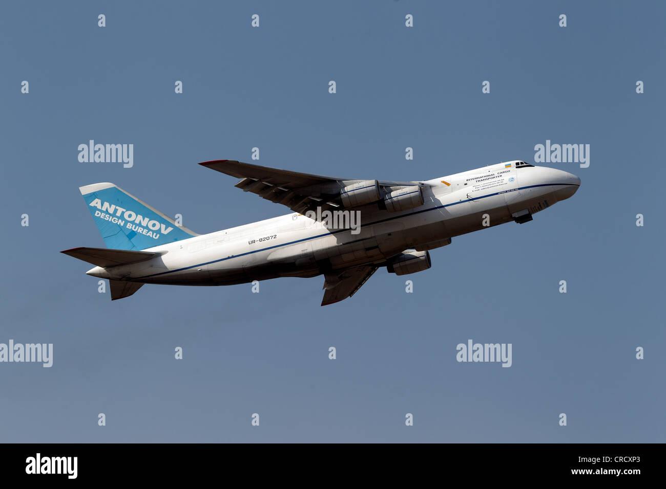 Antonov AN124 cargo plane, Lautzenhausen, Rhineland-Palatinate, Germany, Europe - Stock Image
