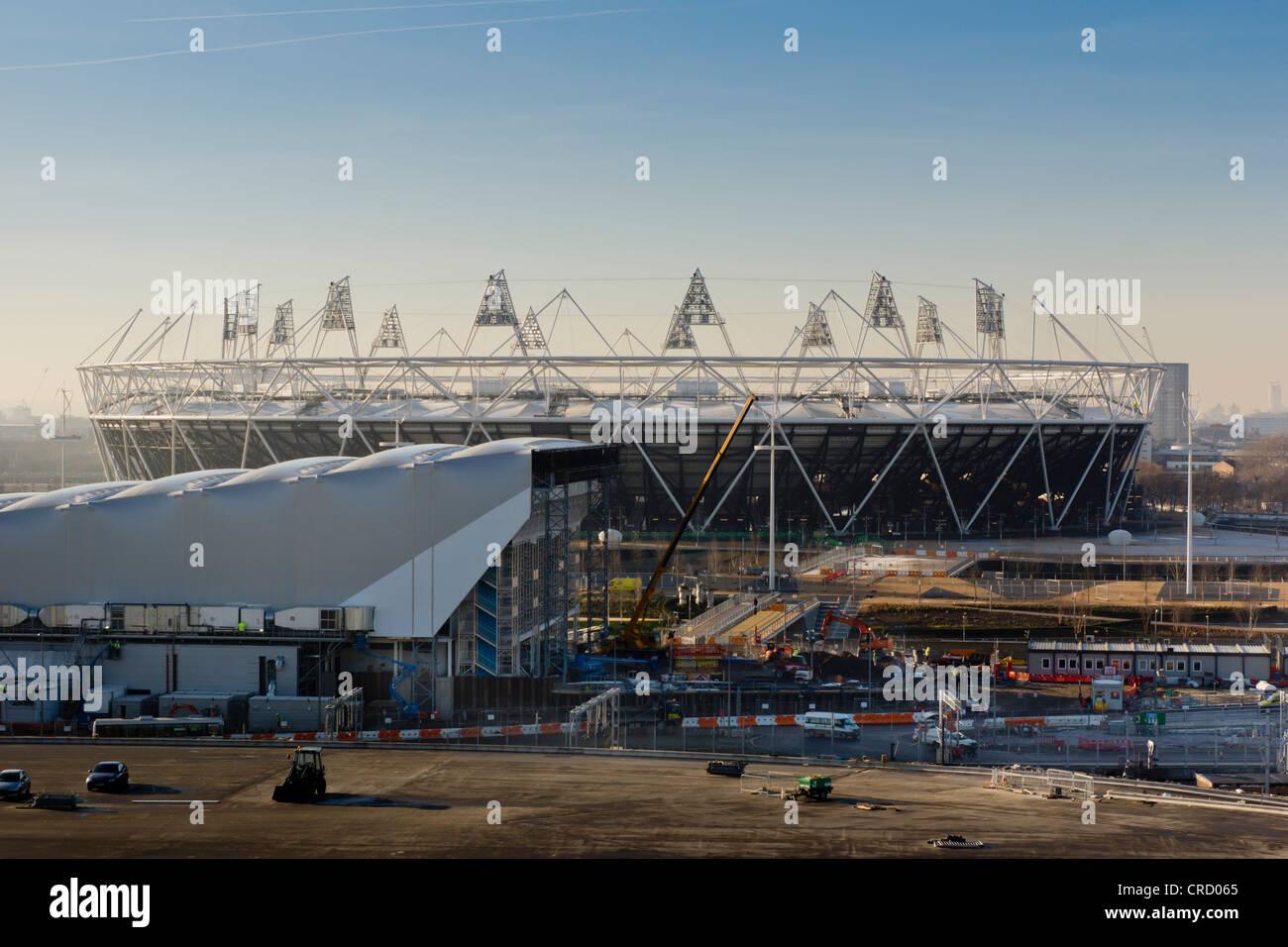 Olympic stadium, Olympic Parc, Stratford, London, England, UK, Europe Stock Photo