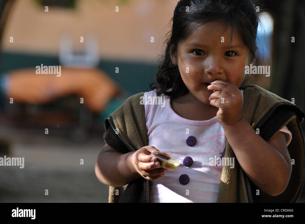 Girl of the indigenous peoples, Cusco, Peru, South America - Stock Image
