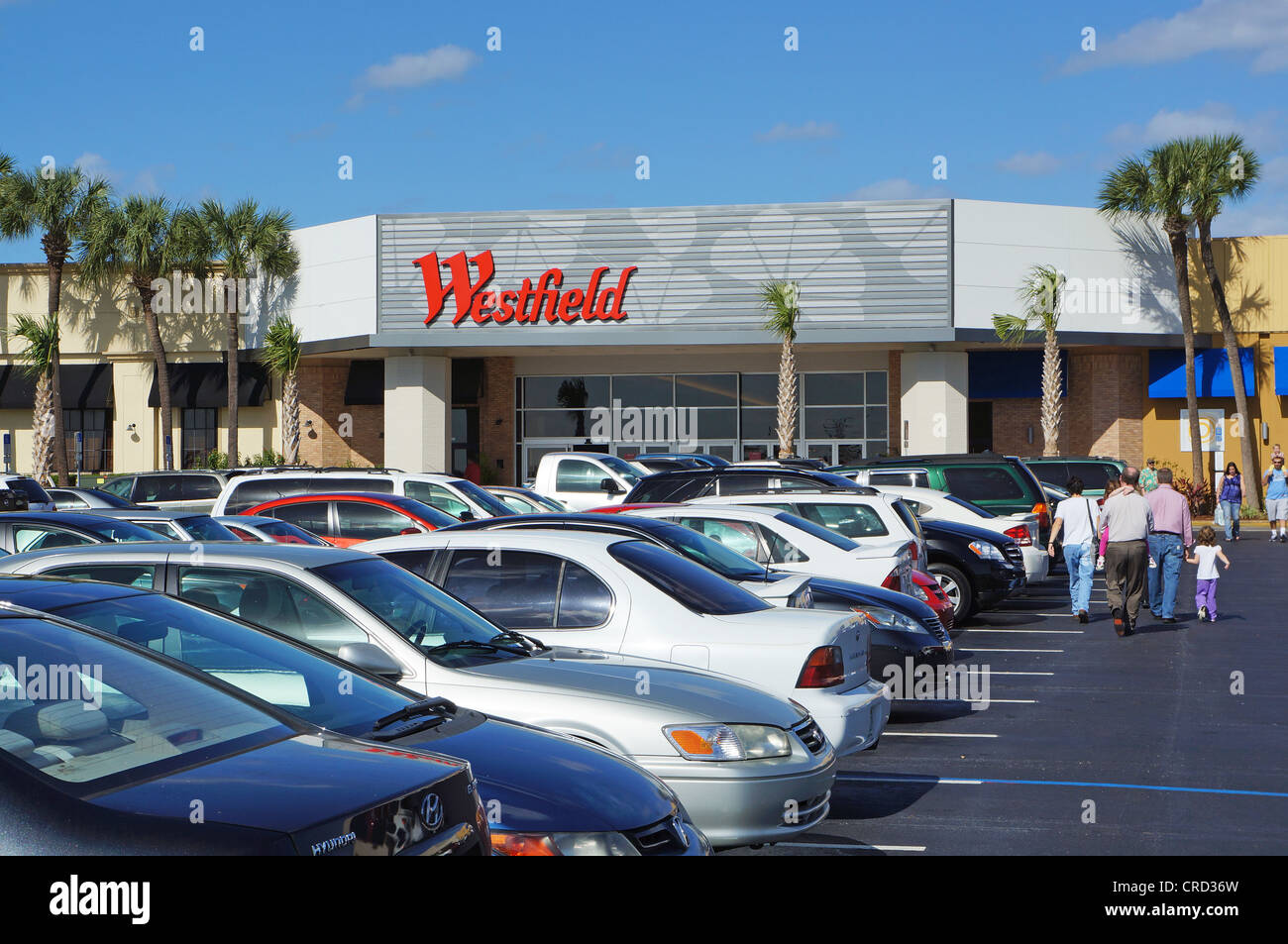Main entrance to the Westfield Shopping Center, Clearwater, Florida, United States, USA Stock Photo