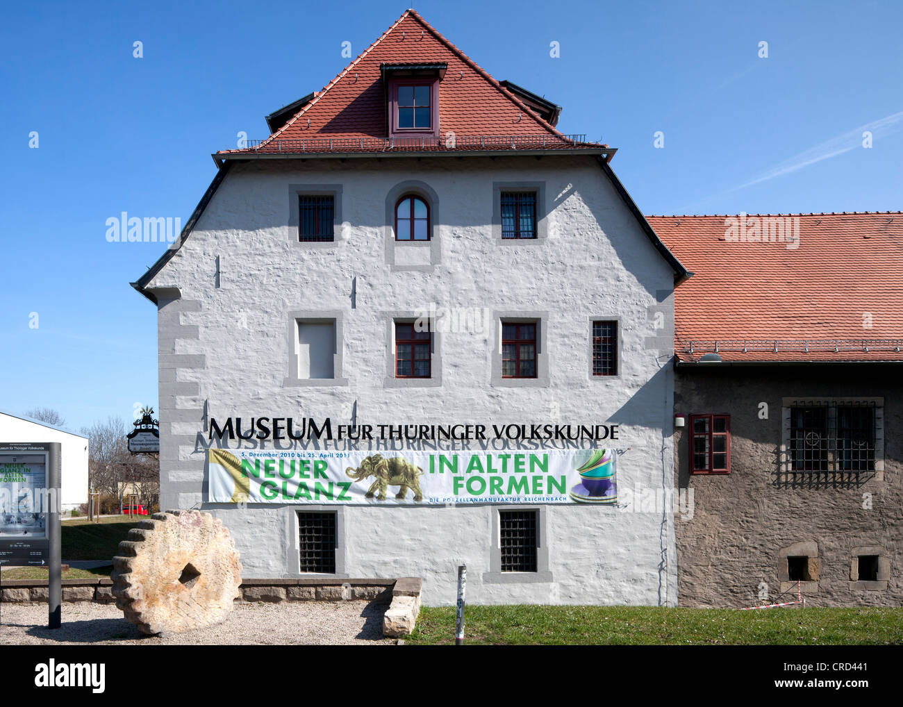 Museum for Thuringian Ethnology, Erfurt, Thuringia, Germany, Europe, PublicGround - Stock Image