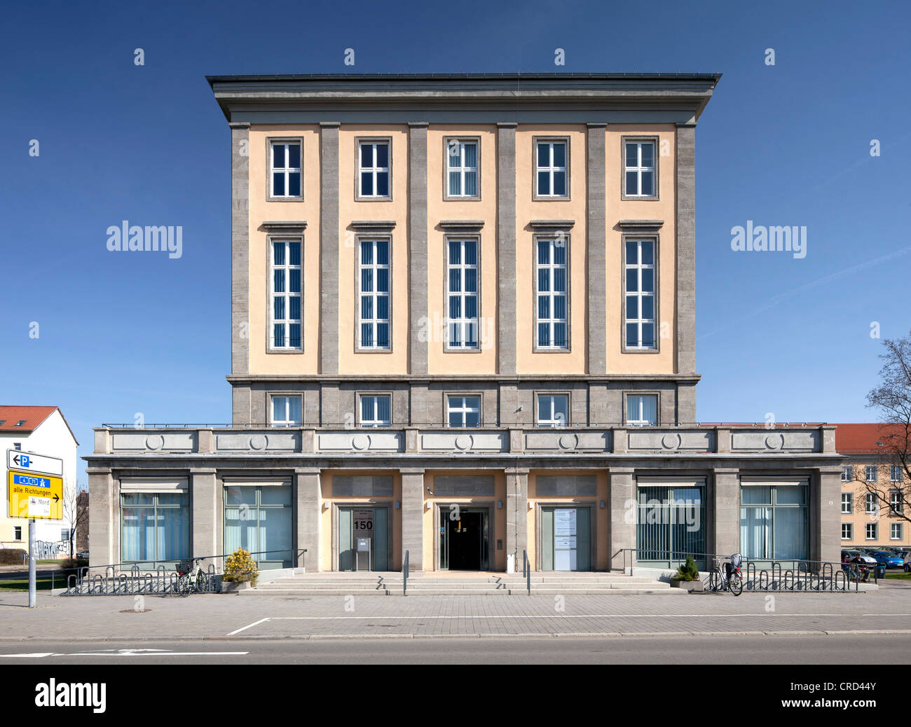 Union House, House of Social Services, Erfurt, Thuringia, Germany, Europe, PublicGround - Stock Image