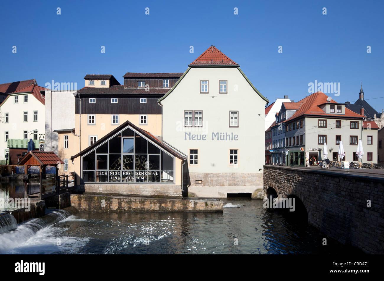 Neue Muehle, mill museum, technical monument, Erfurt, Thuringia, Germany, Europe, PublicGround - Stock Image