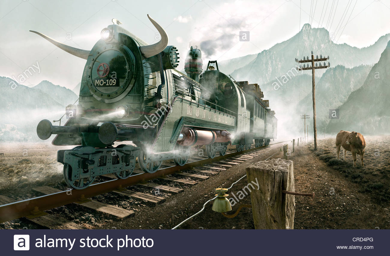 Composing: Monorail. - Stock Image