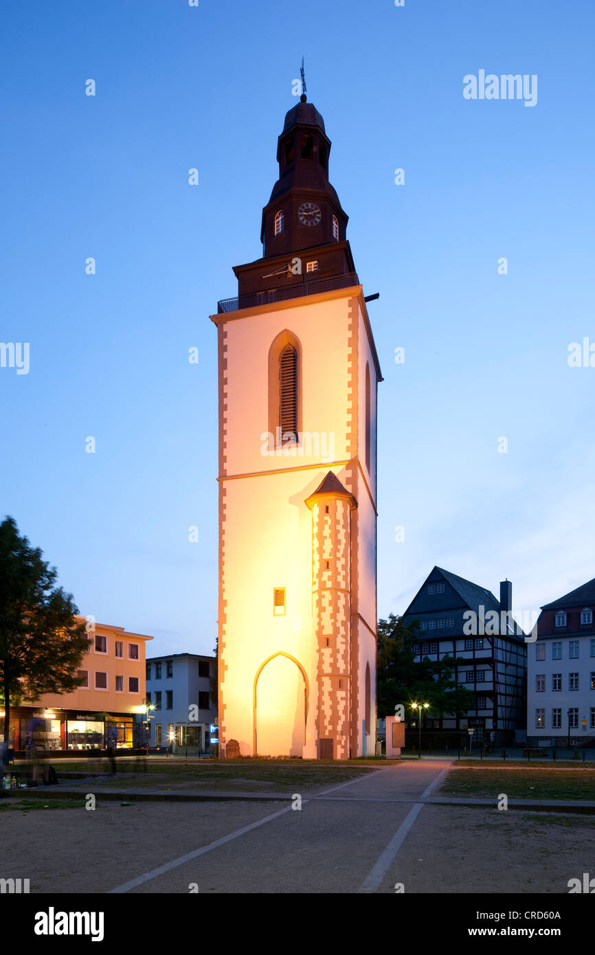 Town Church of St. Pancras, memorial, Giessen, Hesse, Germany, Europe, PublicGround - Stock Image