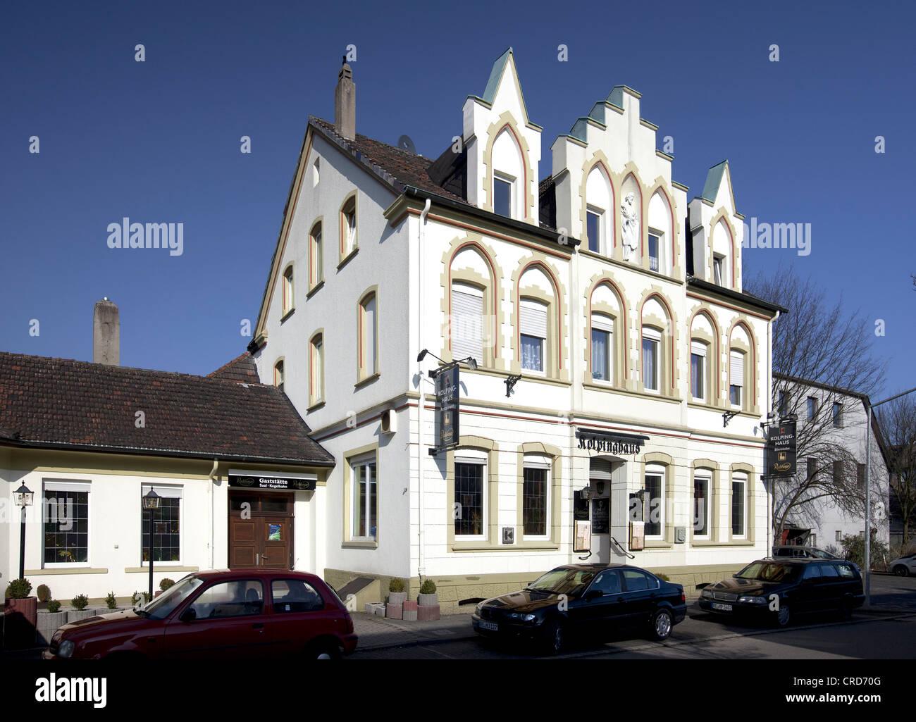 Kolping House, Herten, Westerholt district, Ruhr Area, North Rhine-Westphalia, Germany, Europe, PublicGround - Stock Image