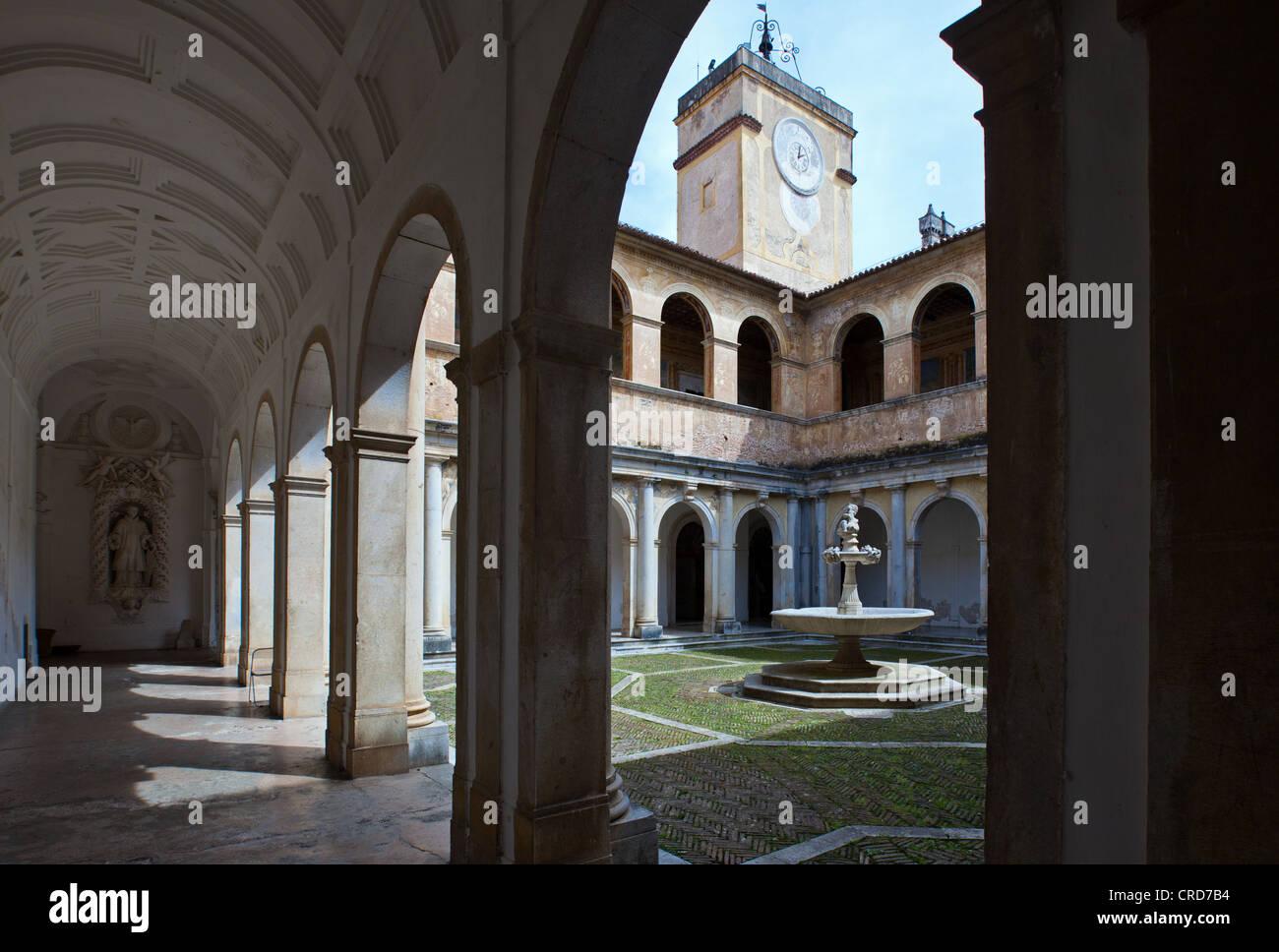 Europe Italy,Campania Cilento, Padula, the Certosa of San Lorenzo Cloister - Stock Image