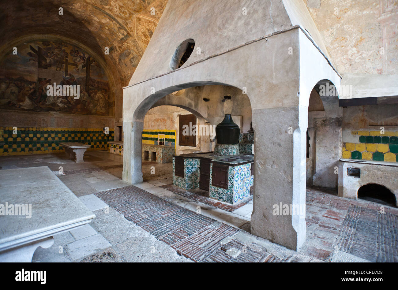 Europe Italy,Cilento, Padula, the kitchens of the Certosa of San Lorenzo Stock Photo