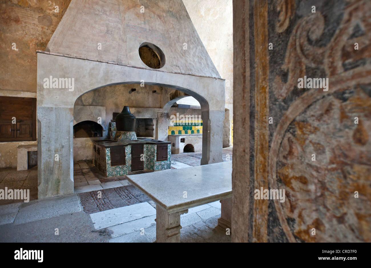 Europe Italy,Cilento, Padula, the kitchens of the Certosa of San Lorenzo - Stock Image