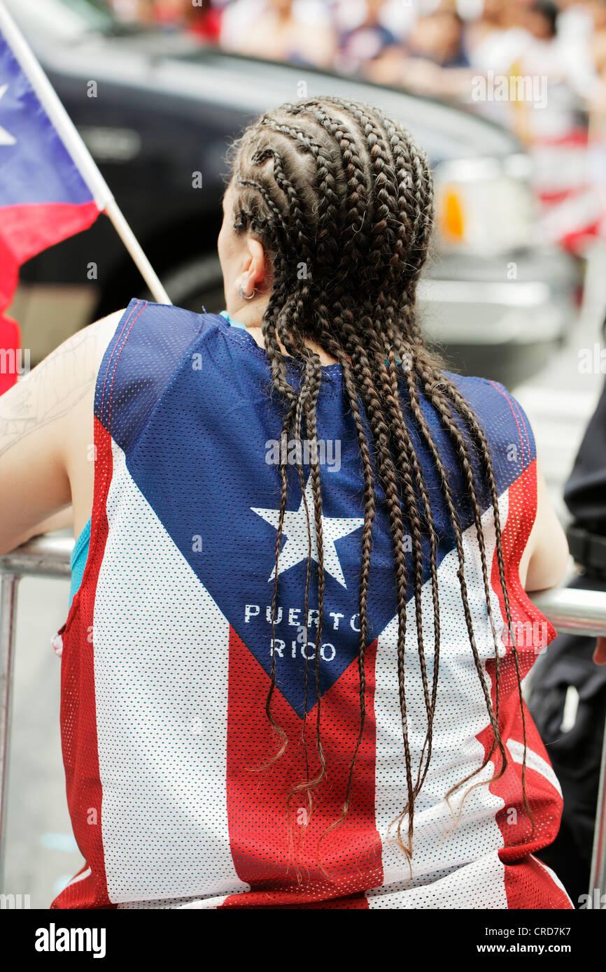 The annual Puerto Rican Day Parade in NYC. - Stock Image