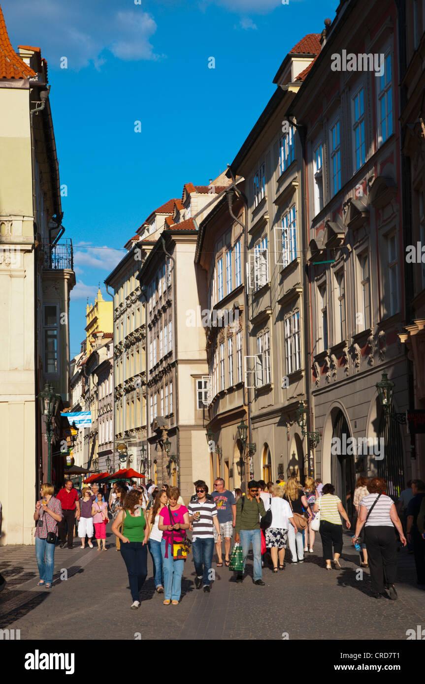 Celetna street old town Prague Czech Republic Europe - Stock Image