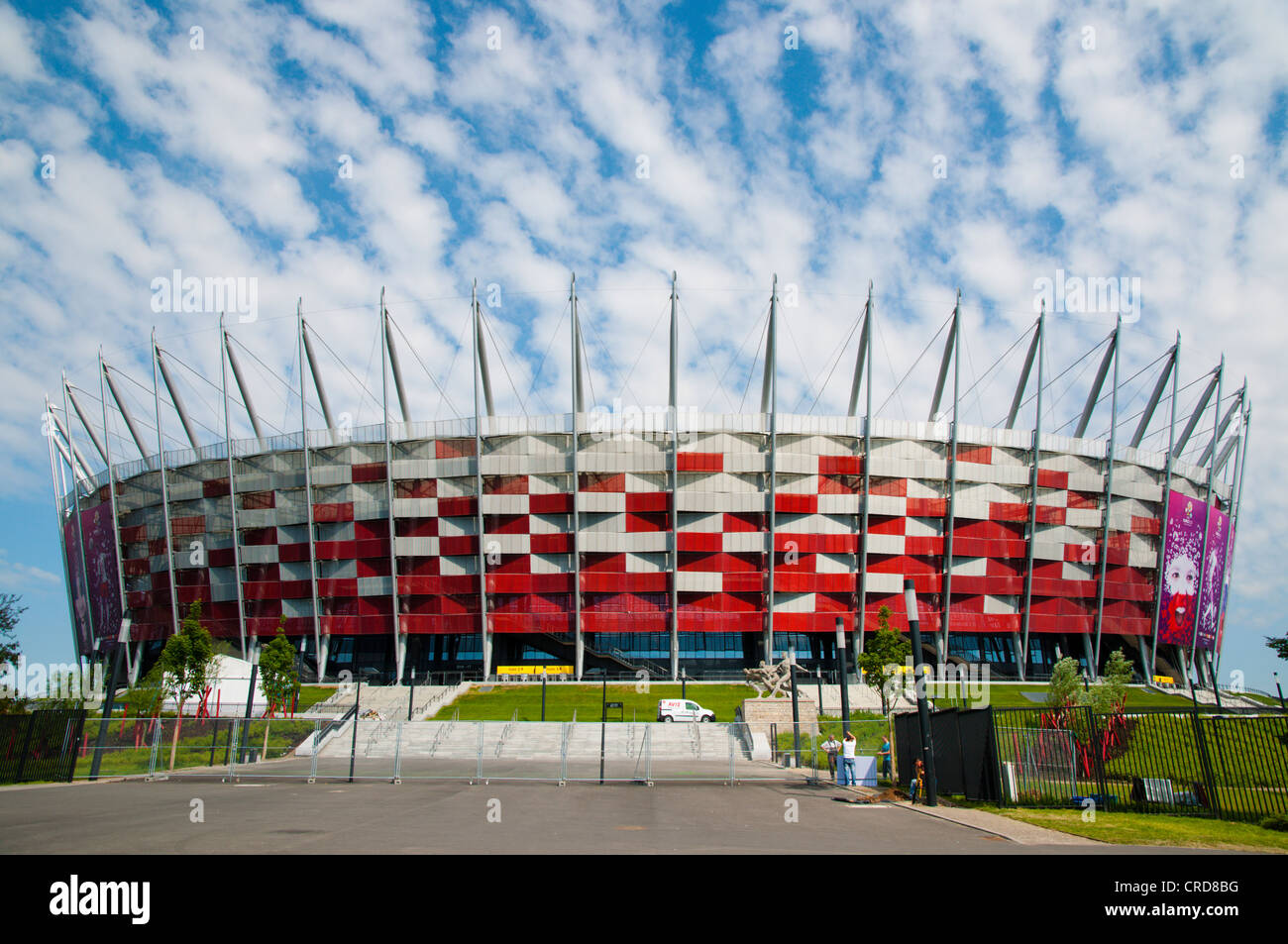 Stadion Narodowy the National Stadium (2012) built for the European football championships Praga district Warsaw - Stock Image