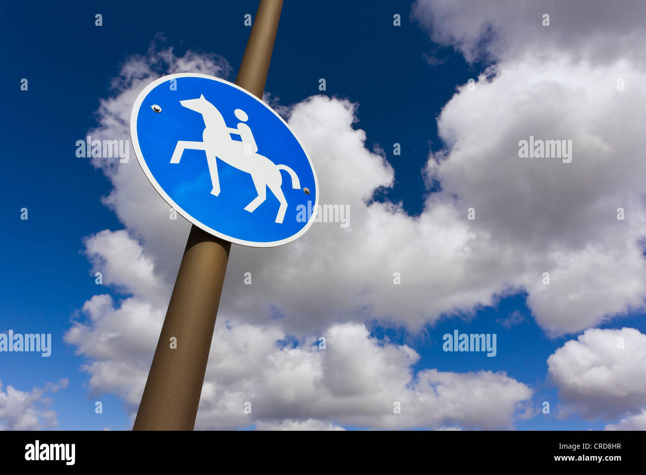 Sign 'bridleway', Sylt, Schleswig-Holstein, Germany, Europe - Stock Image