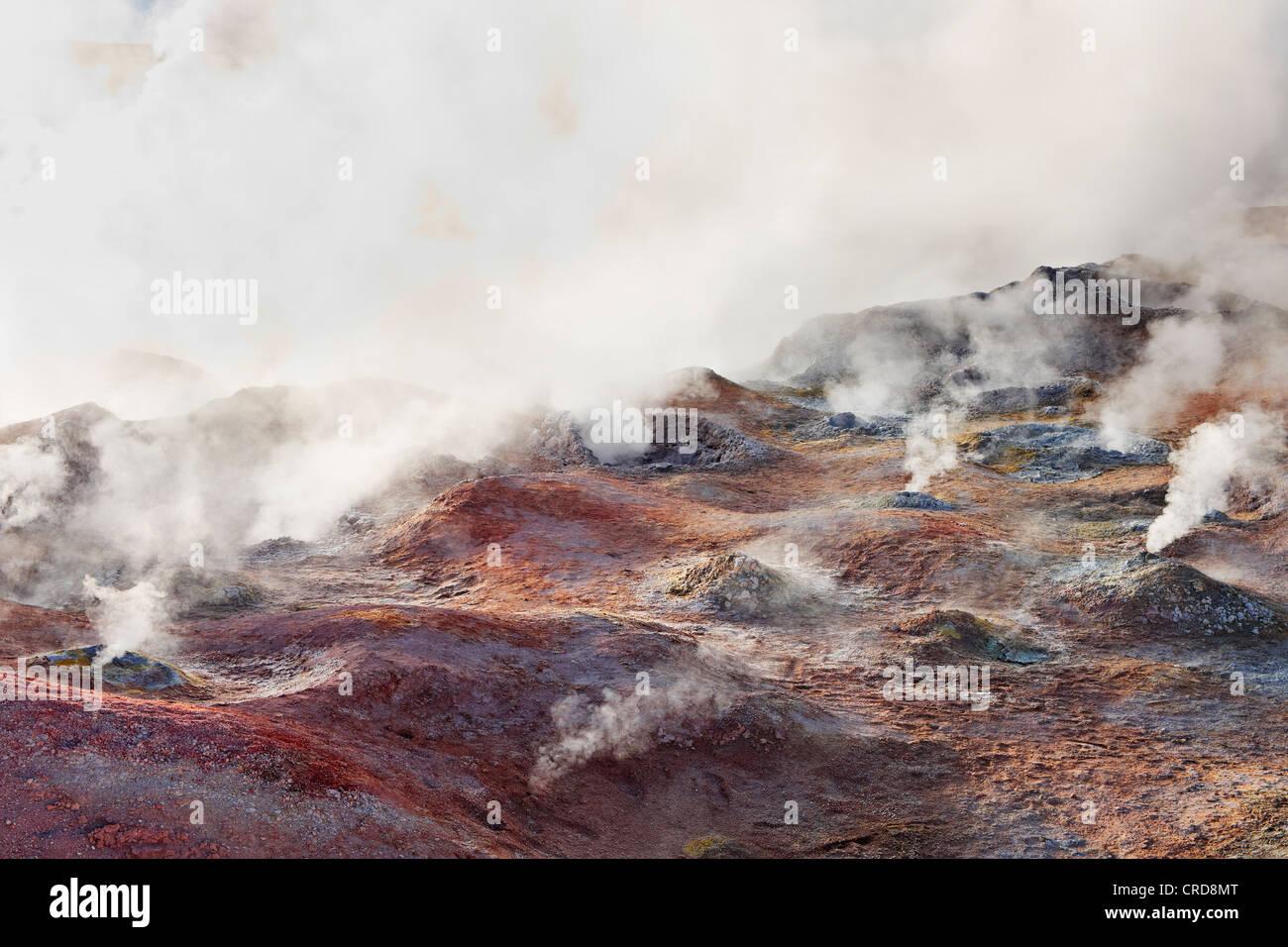 Fumaroles in the Eduardo Avaroa Andean Fauna National Reserve, Potosi, Bolivia - Stock Image