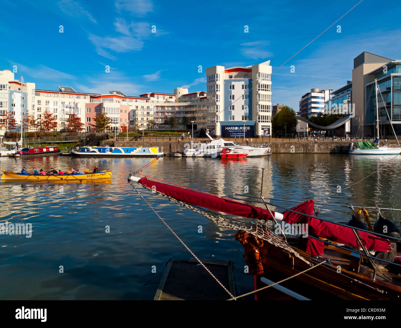 Bristol Docks and Harbour area in the city centre England UK which has been extensively redeveloped and is now a - Stock Image