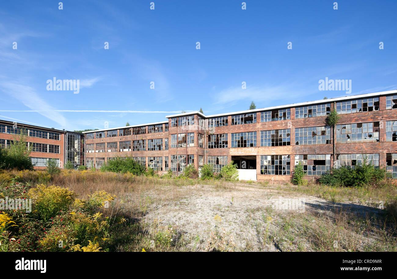 Automobilwerke Eisenach, automobile plant, former factory halls, Eisenach, Thuringia, Germany, Europe, PublicGround Stock Photo