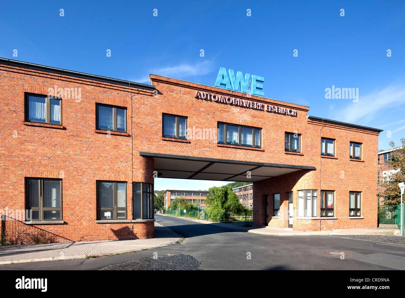 Automobilwerke Eisenach, automobile plant, gatehouse, Eisenach, Thuringia, Germany, Europe, PublicGround Stock Photo