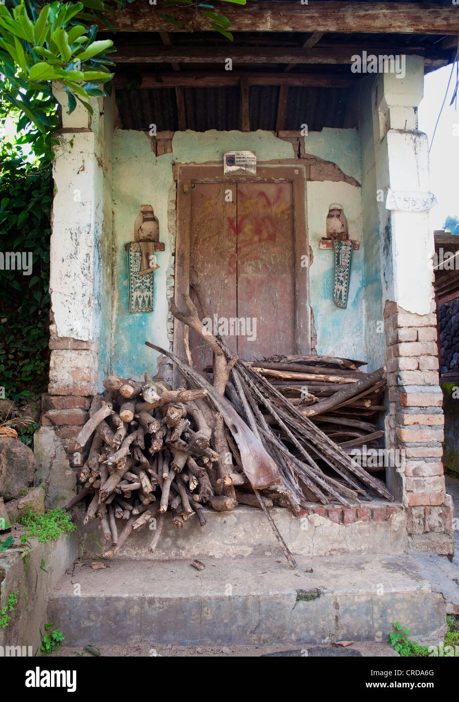 Door Fronts On The Street Of The Traditional Bali Aga Village Of Stock Photo Alamy