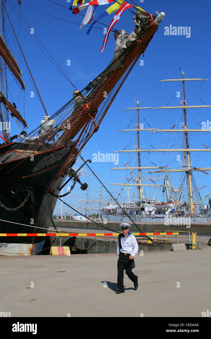 The Tall Ships' Races at Kotka. Young sailor, Finland - Stock Image
