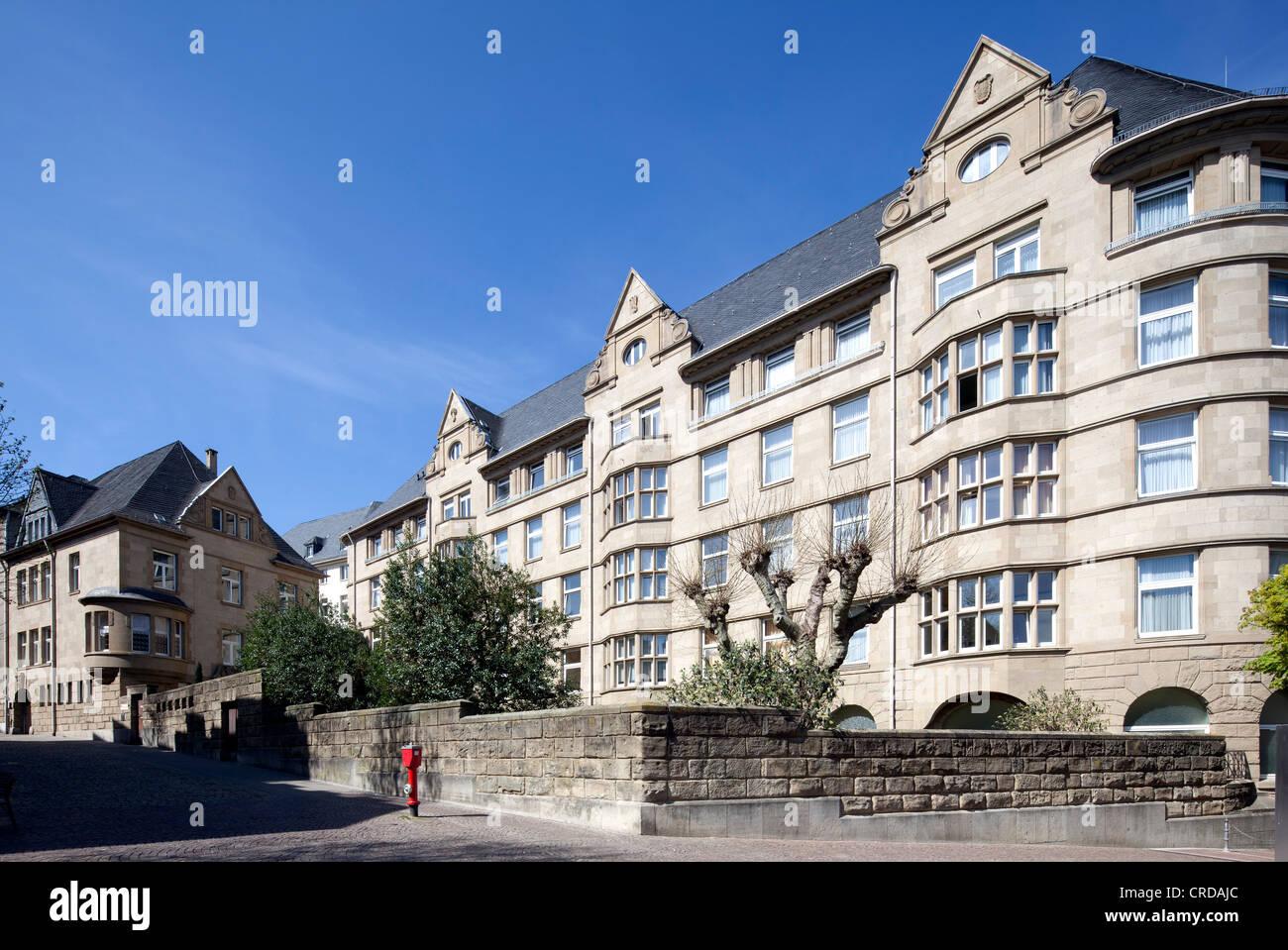 Landesbad, historic spa, clinic for rheumatology, Burtscheid district, Aachen, North Rhine-Westphalia, PublicGround - Stock Image
