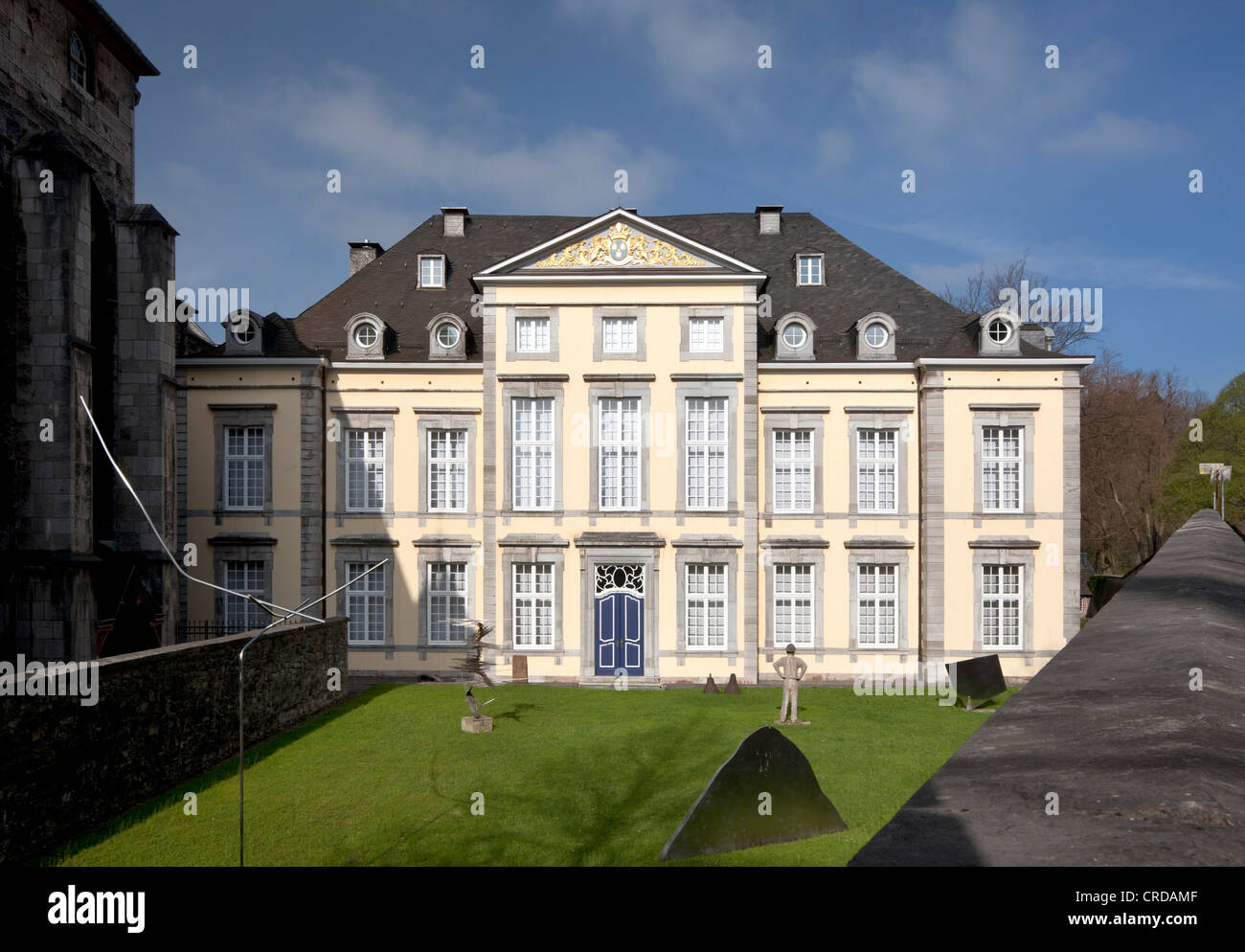 Imperial Abbey of Kornelimuenster, art collection of NRW, Aachen, North Rhine-Westphalia, Germany, Europe, PublicGround - Stock Image