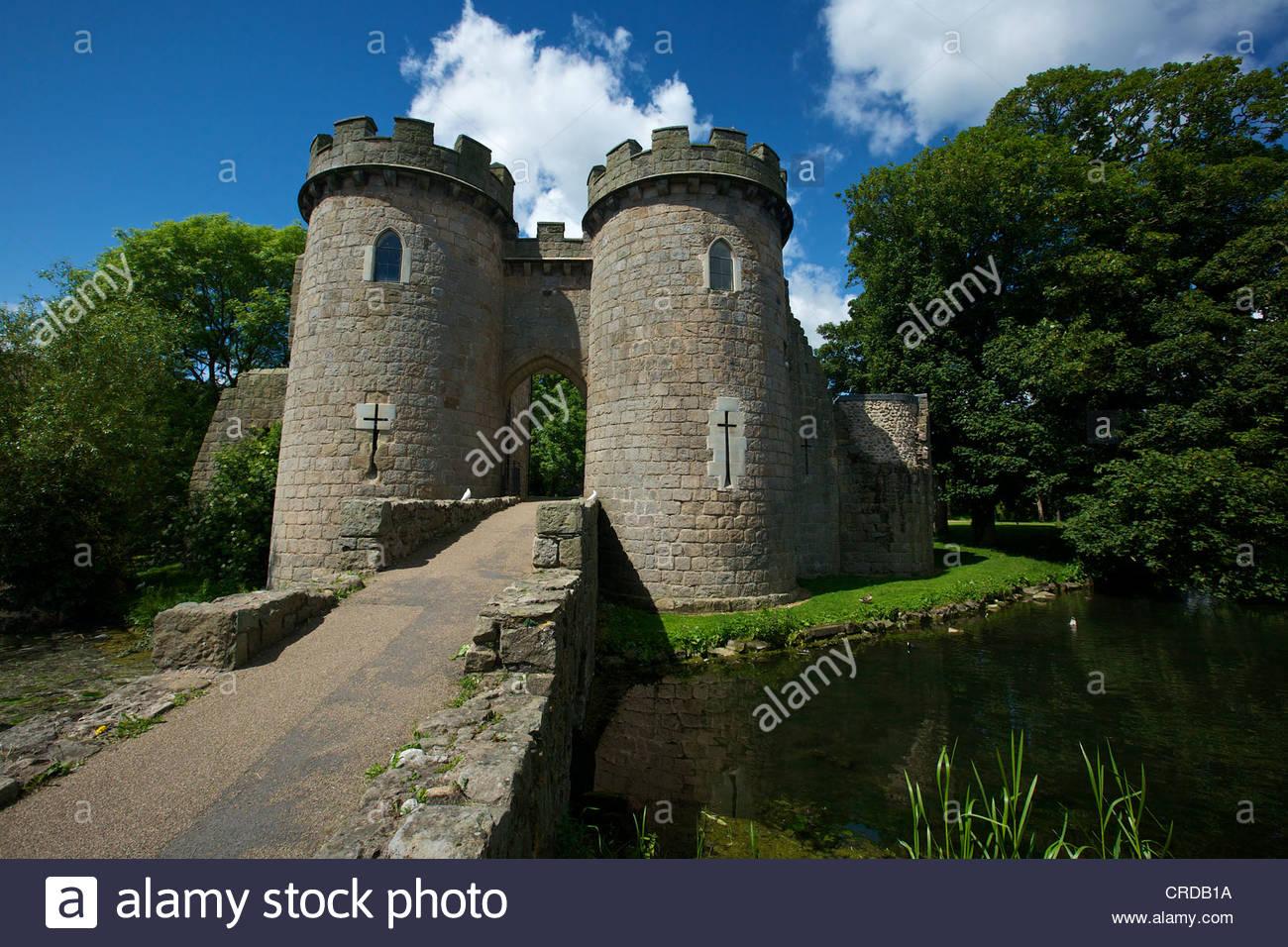 Whittington Castle near Oswestry Shropshire West Midlands England UK - Stock Image