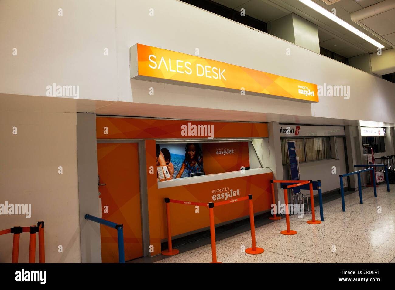 Manchester Airport Terminal 2 Easy Jet Ticket Stand Sales