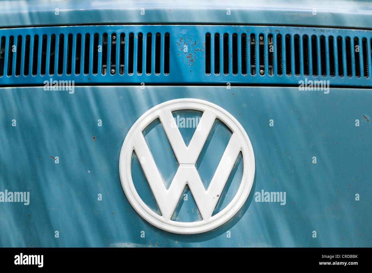 Vintage Volkswagen badge - Stock Image