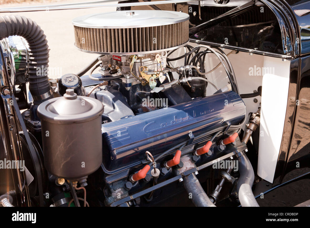 Closeup detail of carburetor engine - Stock Image