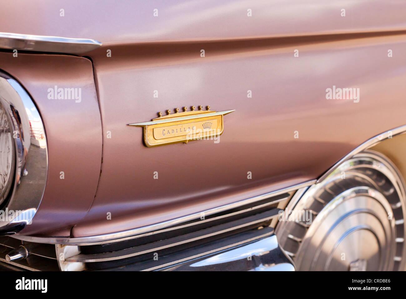 Vintage 1960 Cadillac Eldorado badge - California USA - Stock Image