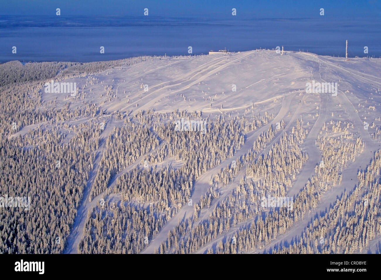 Kittilae photographed from air, Finland, Lapland - Stock Image