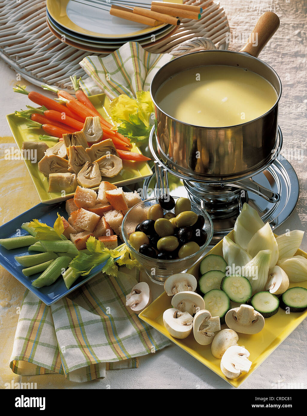 Classic bagna cauda, Italy, recipe available for a fee Stock Photo