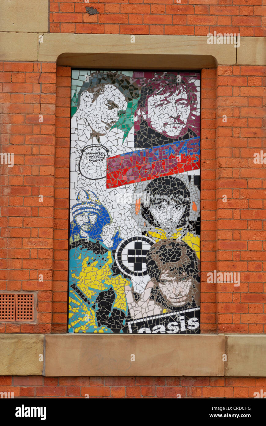 Mosaic artwork on Afflecks in Manchester. - Stock Image