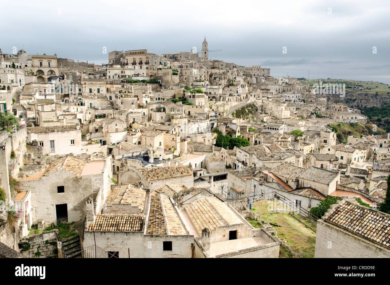 Matera citta dei Sassi Basilicata region South Italy - Stock Image