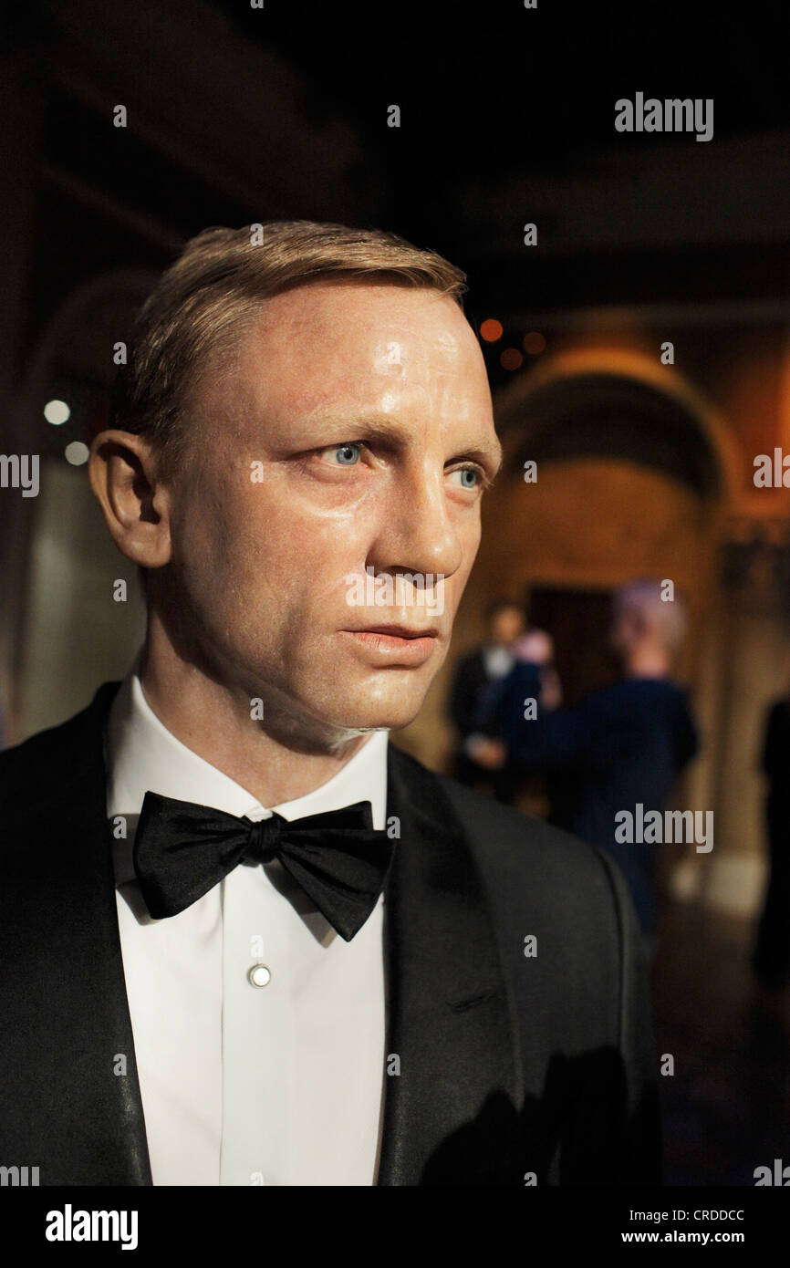 Actor Daniel Craig as a waxwork replica at Madame Tussaud's, Times Square. - Stock Image