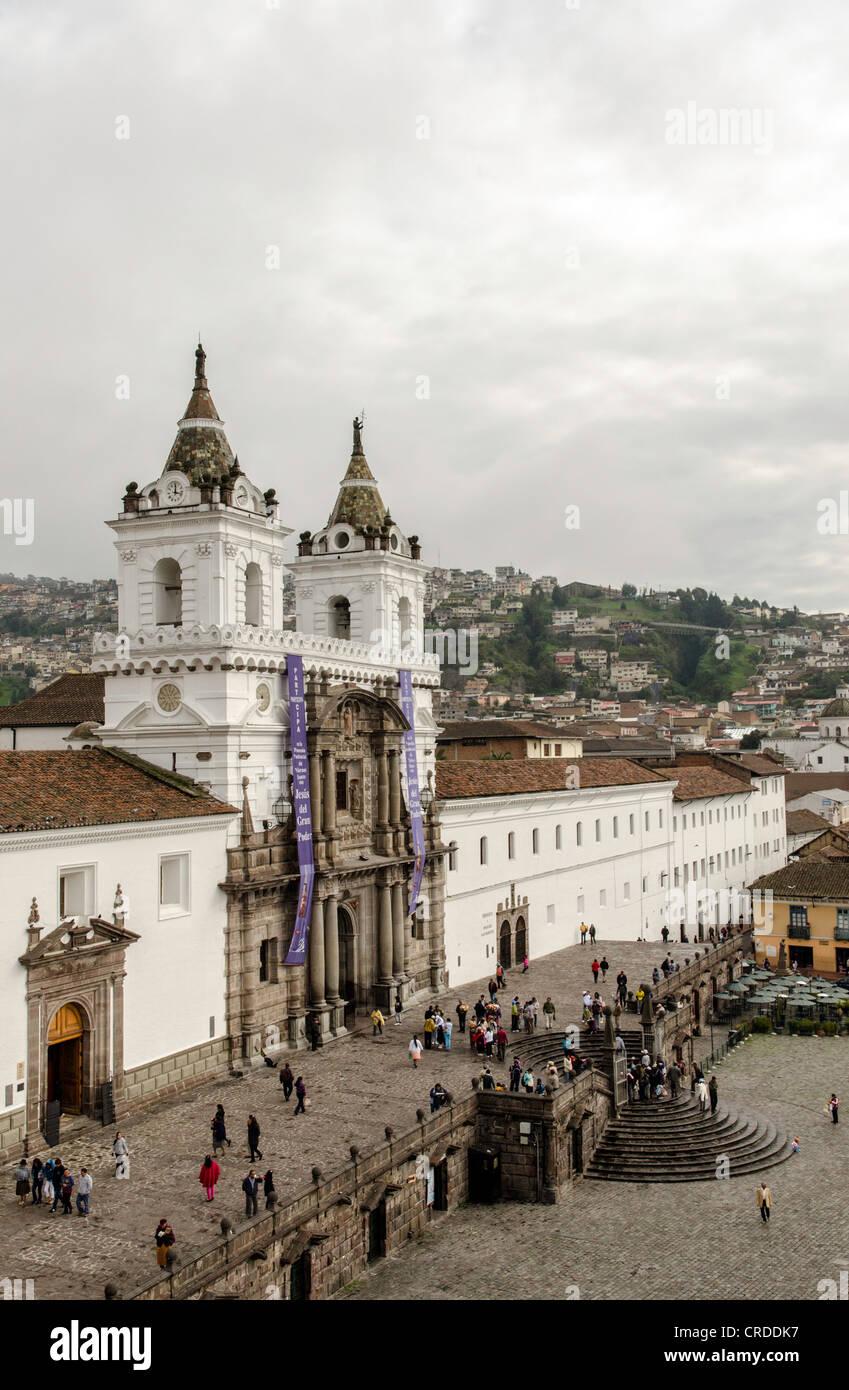 Santo Domingo church Quito Ecuador - Stock Image