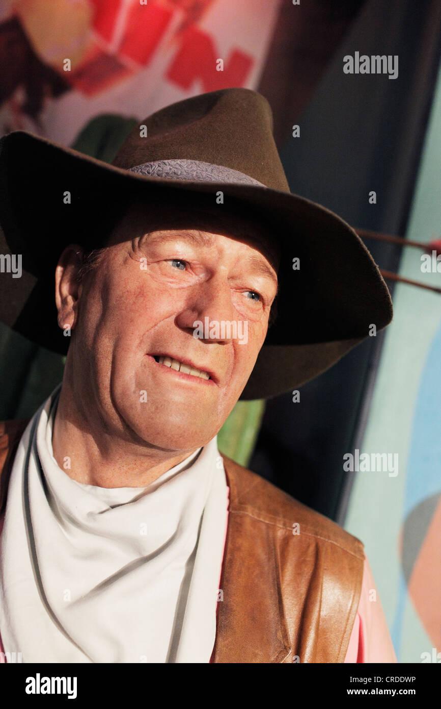 Actor John Wayne as a waxwork replica at Madame Tussaud's, Times Square. - Stock Image