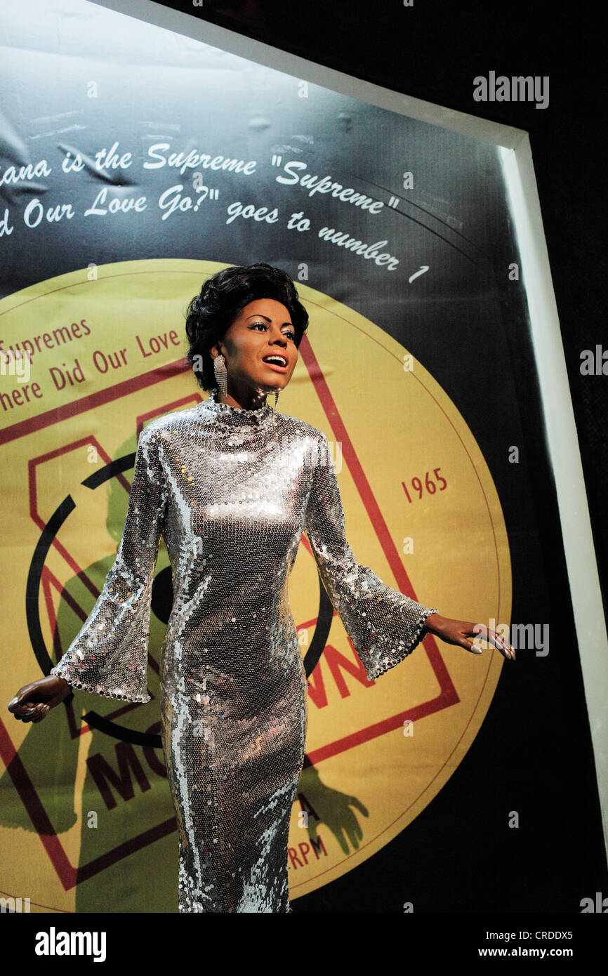 Singer Diana Ross as a waxwork replica at Madame Tussaud's, Times Square. - Stock Image