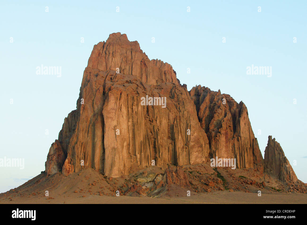 shiprock redrock national monument new mexico nm red rock historical native american indian spiritual place - Stock Image
