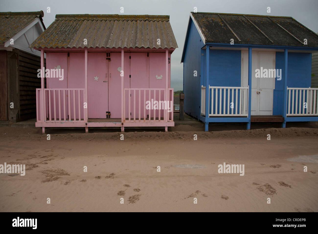 Beach Huts Sutton on Sea - Stock Image